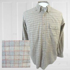 Hathaway vintage men plaid shirt long sleeve M